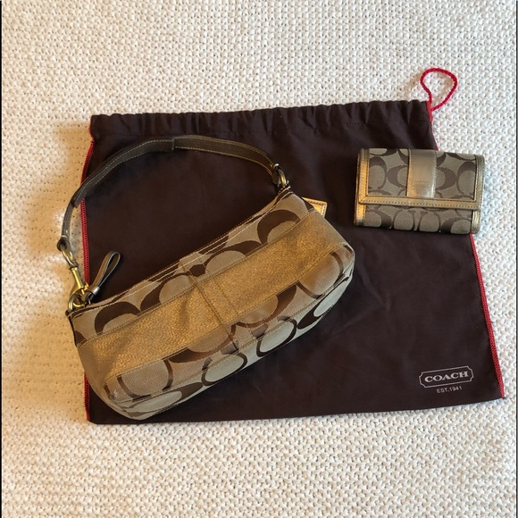 Coach Handbags - Coach bag with matching wallet